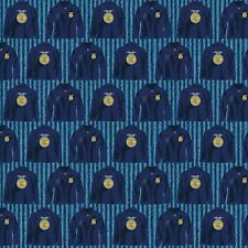 FFA Forever Blue Jackets Fabric By the yard cotton print Riley Blake
