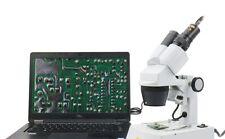 SWIFT Stereomikroskope Auflicht-Durchlicht Mikroskop Vergrößerung 80x+2MP Kamera