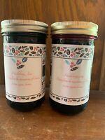 Huckleberry Jam And Preserves Set.                            Large 10 Oz Jars!!