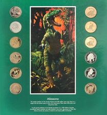 Dinomania - Collection Of Legal Tender Dinosaur Coins- 12 Coin Set + 4 Posters