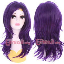 Descendants Mal 50cm Medium Wave Curly Hairs Party Anime Cosplay Wigs + Wig Cap