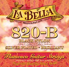 La Bella 820-B  Flamenco Saiten 1 Satz black Nylon