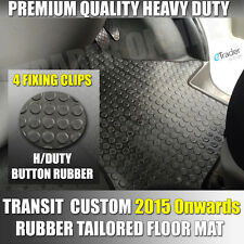 FORD TRANSIT CUSTOM RUBBER FLOOR MATS MAT FRONT TAILORED FIT VAN 2015>onwards