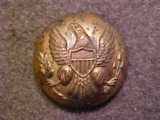 VERY RARE CIVIL WAR 13/16 BRASS EAGLE UNIFORM COAT BUTTON MARKED EXTRA QUALITY
