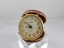 Vintage Linden Travel Alarm Clock 1960's Red Round Case