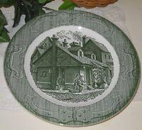 "The Old Curiosity Shop Underglaze USA Green 10"" plate farmhouse decor  #10-21"
