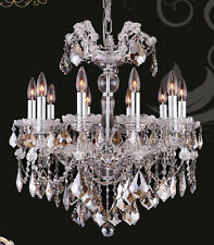 "Limited Edition Maria Theresa Chandelier Golden Teak Crystal C 10 Lts 22""Wx26'H"
