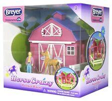 Breyer Stablemates-Caballo Loco Granero De Bolsillo Set-Caballo Granja De Juguete Modelo #5370