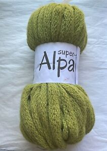 Scacel Super Fine Alpaca 55 Yards Alpaca Acrylic Chartreuse Yarn Made in Peru