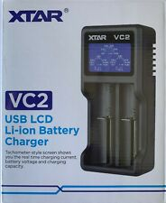 Xtar VC2 USB Battery Charger LCD Display Li-ion 10440~26650 18650 IMR 3.6/3.7V