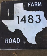 Old Authentic Retired TEXAS 1483 SIGN Highway Oil Gas (24X24) Lone Star
