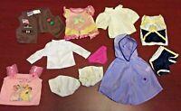 """Lot of 11 Doll Clothes: OG Battat, Build-A-Bear Workshop, Unbranded 18"""" Dolls"""