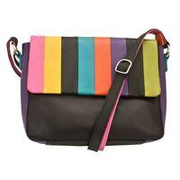 👜ili New York🗽 6029 Black Brights Leather RFID Crossbody Purse Bag $147 NWOT