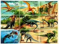 BEN9804Z Prehistoric animals 9 STAMPS MNH BENIN 1998