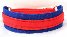 STRONG Equine Grade WEBBING Martingale Lurcher Whippet Dog Collar RED & BLUE
