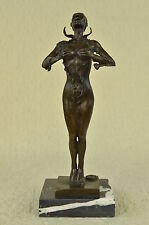 "17"" Greek Bronze Marble Art Goddess Wisdom  Athena GOD OF WAR statue Sculpture"