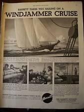 1951 Barrett Allied Chemical Windjammer Cruise Ad