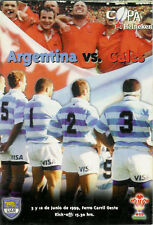 WALES v ARGENTINA 1999 RUGBY PROG & DVD SET, GREAT WIN FOR WALES