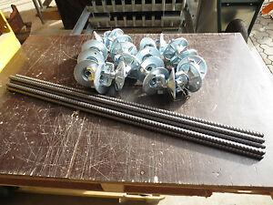 Schalung 8 Spannstäbe 1m Original + 16 Gelenkplatten Kombiplatte d=120mm