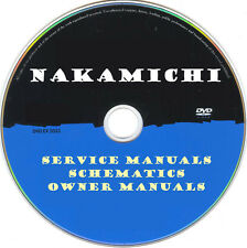 Nakamichi Service Manuals & Schematics- PDFs on DVD -Huge Collection-SRManuals