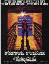 PISTOL POKER By Alvin G. 1993 ORIGINAL NOS Flipper Pinball Machine Sales FLYER