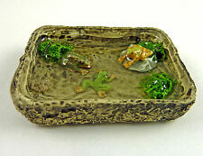 Dollhouse Miniature Small Garden Frog Pond, Resin, A2484