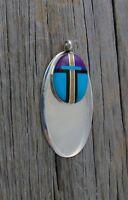 Navajo Sugilite Multi Inlay Silver Pendant