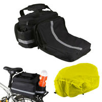 Cycling Bike Bicycle Rear Tail Seat Trunk Bag Pannier Pouch Rack Shoulder Travel