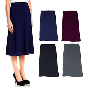 A LINE SHORT SKIRT FULLY LINED AND PLAIN DESIGN WITH FULL ELASTIC & 4 COLOURS