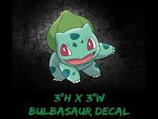 "Pokemon Bulbasaur SMALL Anime 3"" Window Car Decal, Sticker, Pokemon Go USDM"