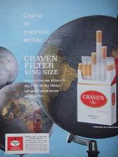 PUBLICITÉ DE PRESSE 1964 CIGARETTES CRAVEN A FILTER KING SIZE - ADVERTISING