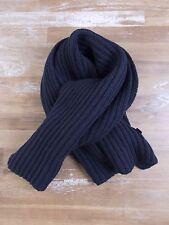 auth ERMENEGILDO ZEGNA thick solid navy 100% cashmere scarf - NWOT