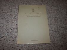 Rolls Royce Silver Cloud III Bentley S3 Automatic Transmission Parts List Manual