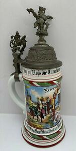 Reservistenkrug Darmstadt Leib-Drag.Regt. Kaiser Nicol.II Russland Hessen Nr.24
