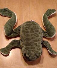 """Folktails Folkmanis Green Spotted Bullfrog Full Body Hand Puppet Plush Frog 14"""""""