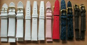 Wholesale job lot of 12, 12-20mm end size Genuine leather watch straps