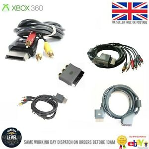 OFFICIAL GENUINE Xbox  360 AV CABLE RCA COMPOSITE / COMPONENT TV LEAD