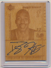 DWIGHT HOWARD 2004 05 UPPER DECK HARDCOURT ENGRAVED ROOKIE AUTO RC