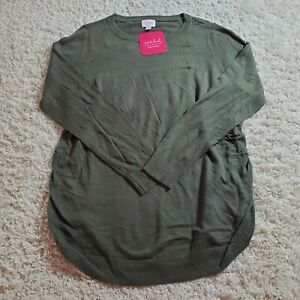 Ingrid & Isabel Maternity Pullover Green XL Pullover Crew Neck Olive XL Sweater