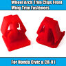 10x For Honda CR-V Red Plastic Wheel Arch Trim Clips Front Wing Trim Fasteners