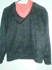Boys Hoodie Camo & Neon Orange 14/16 Youth Xl Athletic Top Shirt $25 Everlast