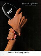Publicité Advertising 1982  Parfum  DRAKKAR NOIR de GUY LAROCHE