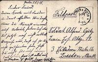 1. Weltkrieg World War Feldpostkarte 1918 Feldpost gelaufen ab Euben b. Riesa