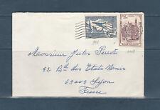 Eta/ enveloppe  Belgique  dont timbre train  Lyon  1959