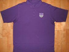 NEW Mens NBA SACRAMENTO KINGS Basketball Athletic XL Purple POLO Shirt