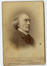 Vintage Cabinet Card Sir Henry Irving English stage actor