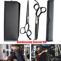 Cutting Thinning Tool Hair Scissors Set Hairdressing Shears Flat Teeth Blades