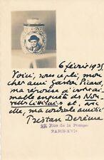 poéte poésie Tristan Derème carte postale autographe signée Gaston Picard photo