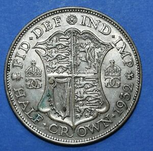Half Crown 1932  King George V .500 Silver British Collectable Coin