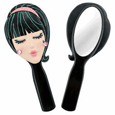 Trendy Girls Doll Face Hand Held Vanity Mirror -  Unique Holiday Gifts for Her